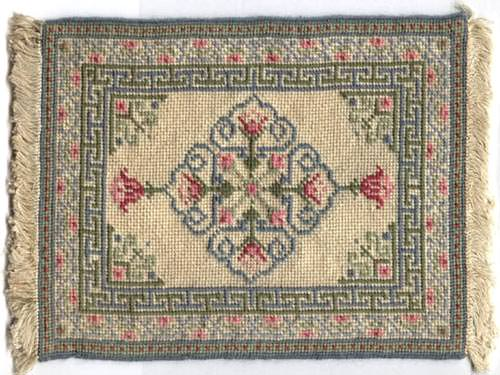miniature needlepoint carpet