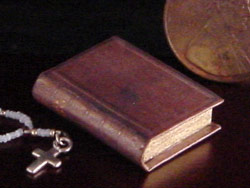 miniature antique Bible