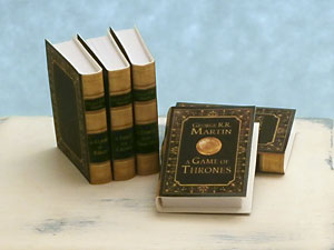 miniature Game of Thrones books