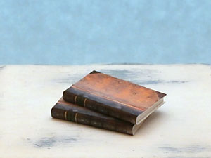 miniature antique books