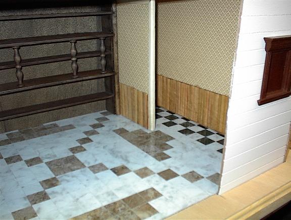 Life In Miniature Floors Working With Wood Veneer Vinyl