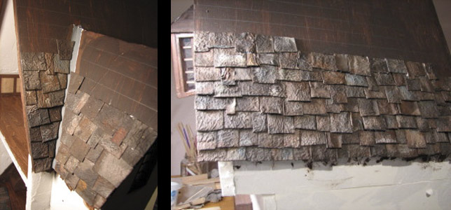 Life In Miniature Making Aged Slate Roof Shingles